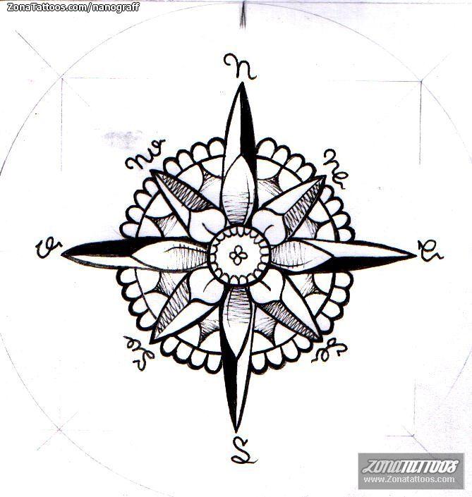 Diseno De Rosa De Los Vientos Zonatattoos Com Rosa De Los Vientos Rosa De Los Vientos Dibujo Diseno De Tatuaje De Compas