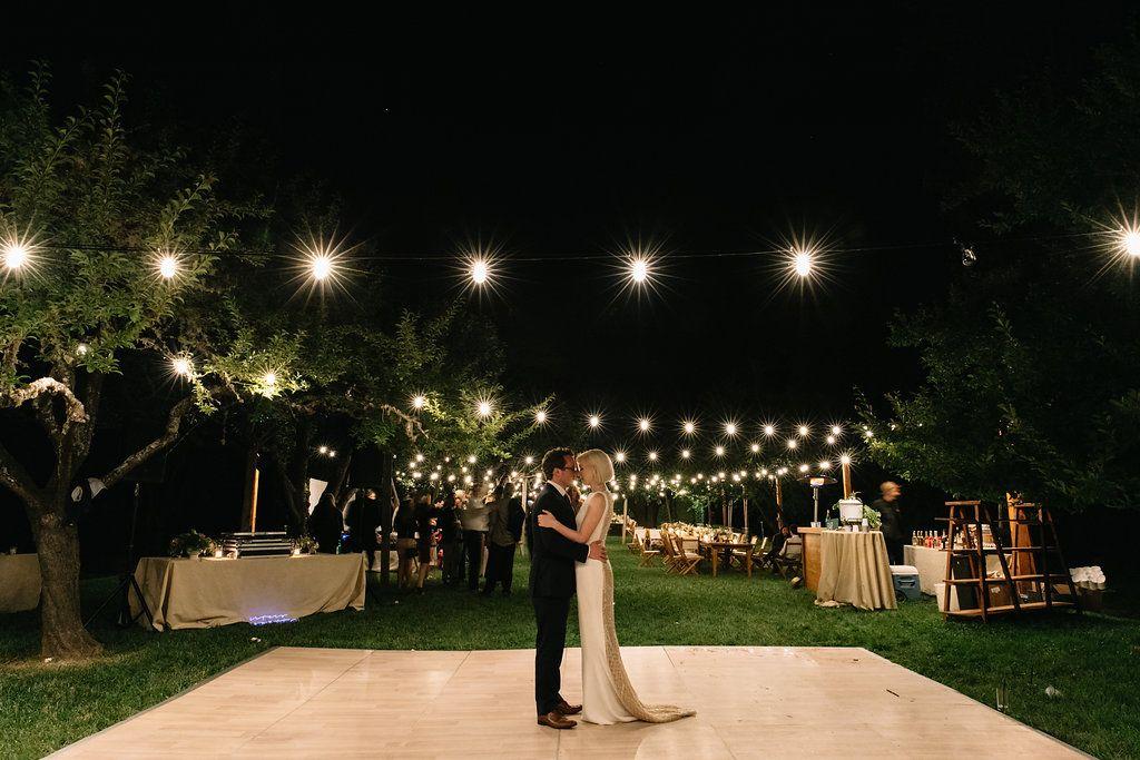bistro lights dance floor inspo