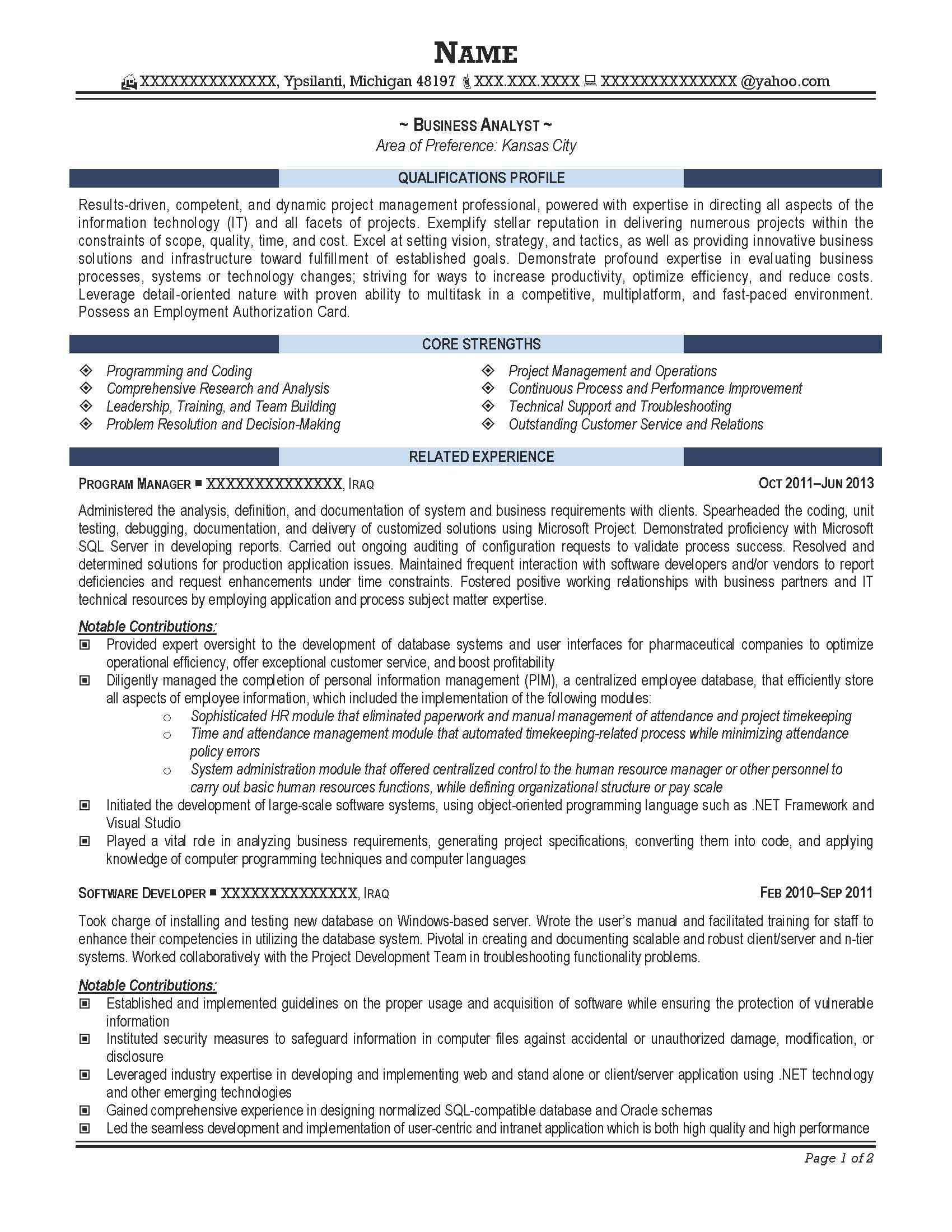 For 5 Years Experience In Operations | 3-Resume Format ...