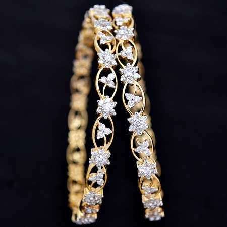 image result for diamond bangles indian designs gold