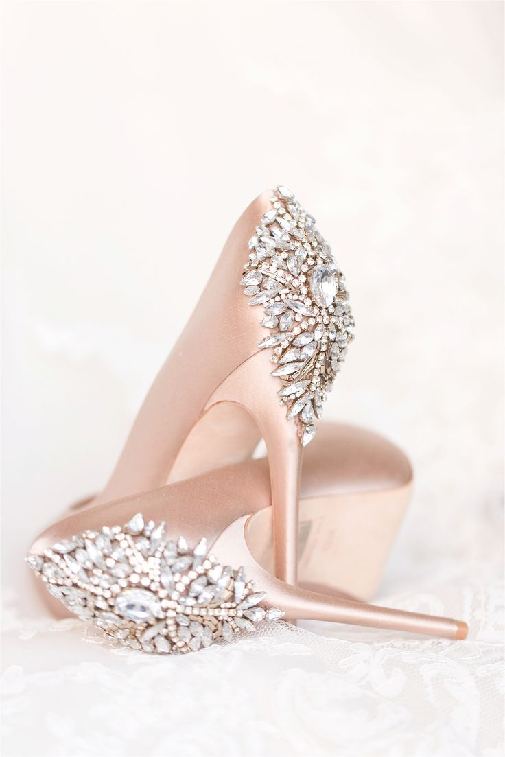 63bdea4191a5 Perfect blush wedding day shoes from Badgley Mishcka.