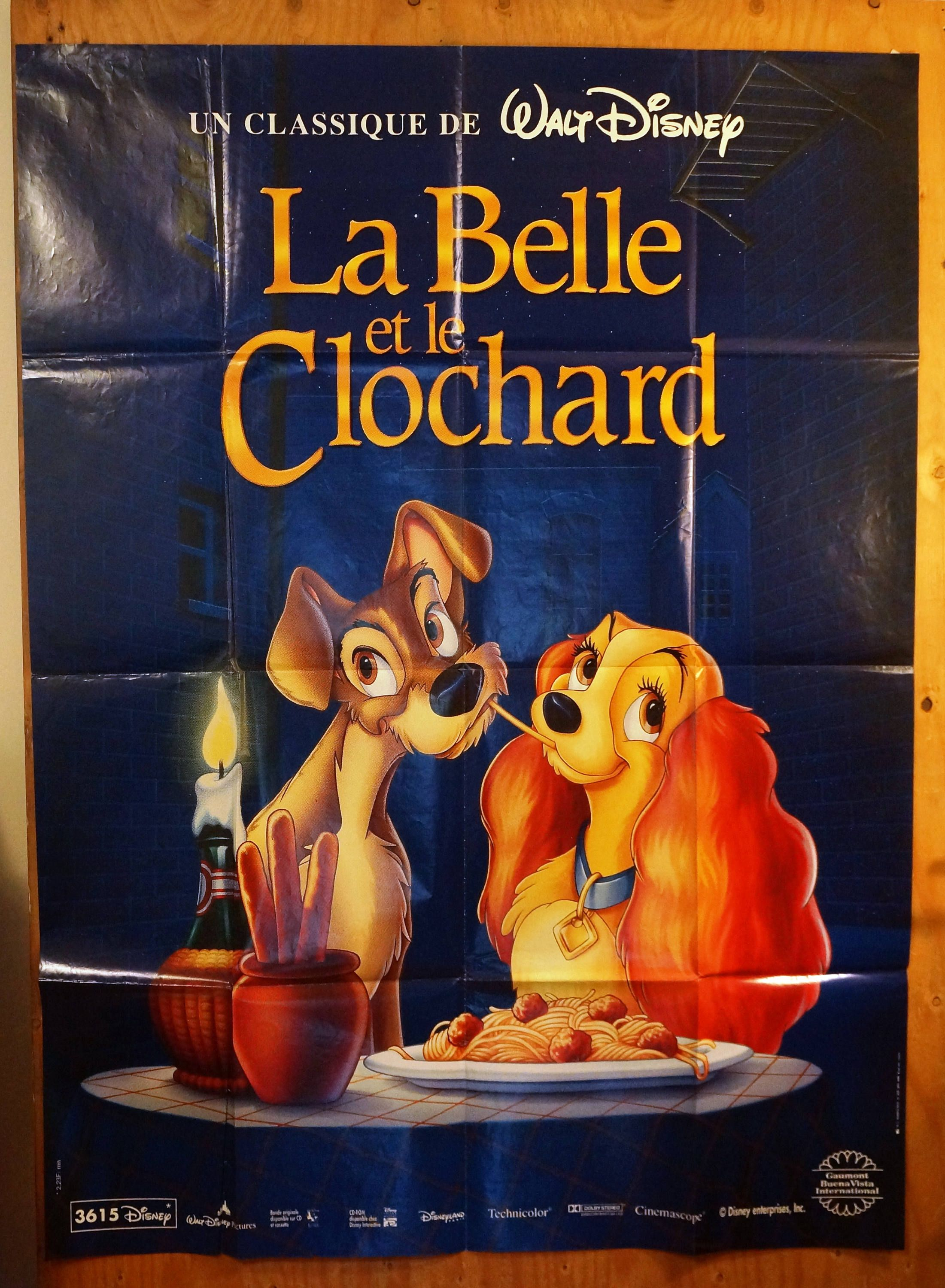 Lady And The Tramp French Subway Movie Poster La Belle Et Le Clochard Lady And The Tramp Disne Lady And The Tramp Movie Posters Subway Poster