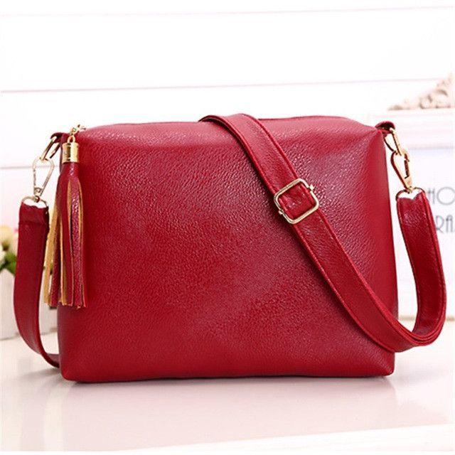 0caa02f0c9b1 Brand designer women bag soft leather PU bagfringe crossbody bag women  messenger bags candy color shoulder