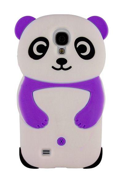 92de7907486 Purple 3D Panda Bear Silicon Case for Samsung Galaxy SIV S4 i9500 (panda  galaxy s4 case) - Galaxy S4 Cases - Samsung Cases