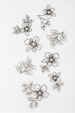 Wire Flower Sculpture Wall Art Set Of 8 Home Sweet
