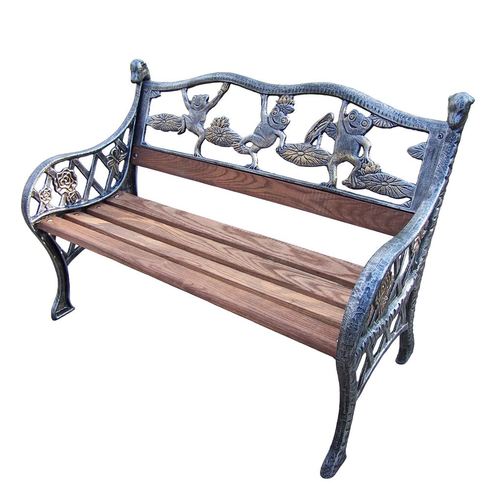 Garden Decorative Bench with Frog Design  Bench decor, Frog