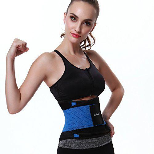 261ca6b3732 FeelinGirl Premium Waist Trimmer Belt Workout Enhancer Stomach Body Wrap   Back  Lumbar Support for Women