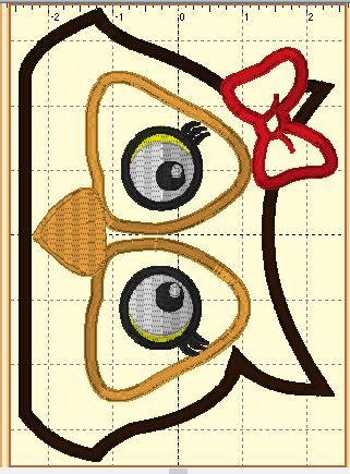 Pretty N Stitches Owl Peeker2girl Embroidery Files Designs I