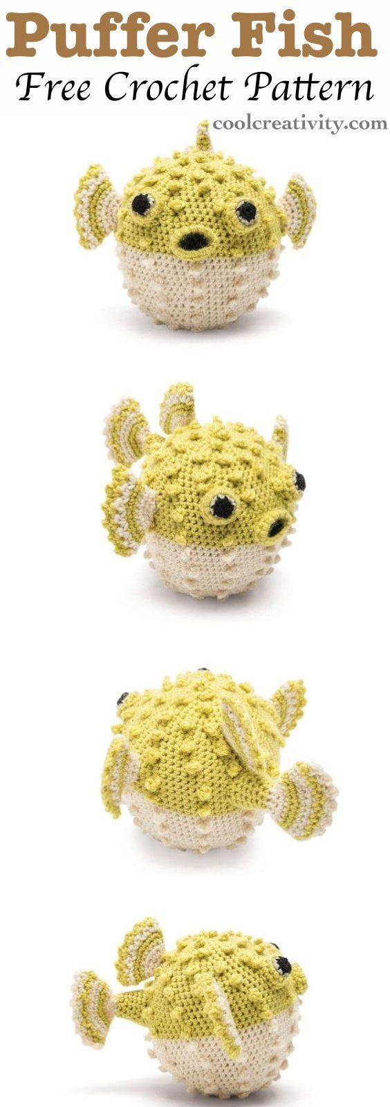 Crochet Cute Amigurumi Puffer Fish with Free Pattern | Tejido