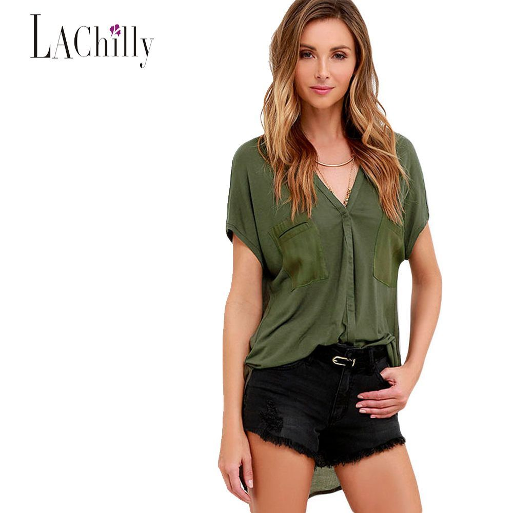 New summer working style blouses for women fashion plus size