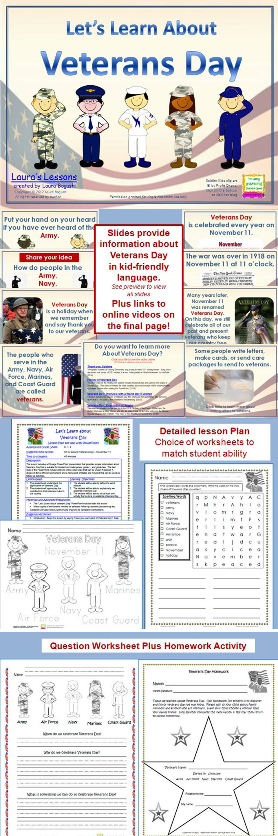 Veterans Day Powerpoint Lesson W Worksheets Homework Veterans Day Activities Powerpoint Lesson Veterans Day [ 2880 x 960 Pixel ]