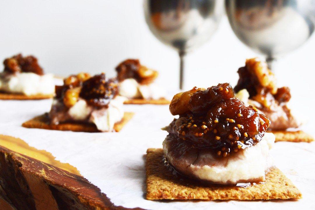 Photo of Vegan Caramelised Fig & Walnut Cashew Cream Cheese Bites – This Vibrant World