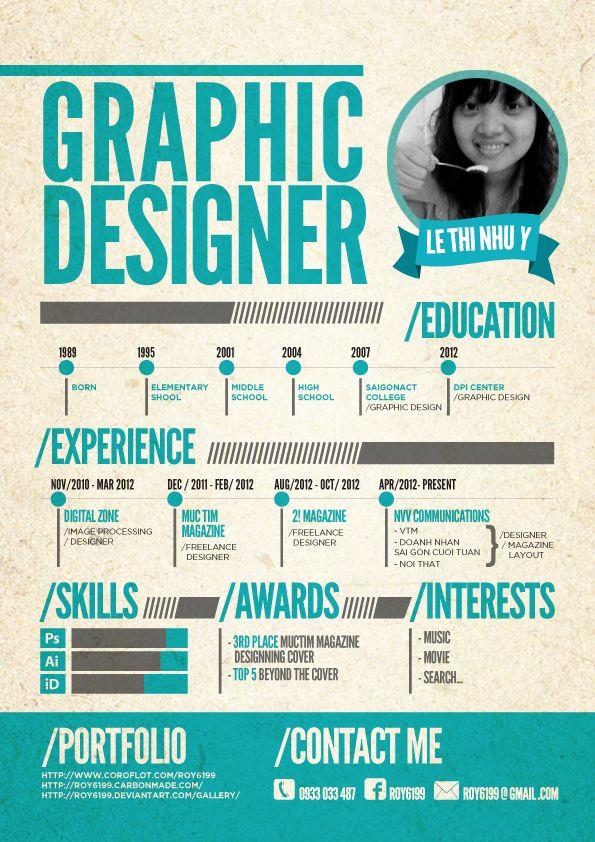 graphic designer resume design