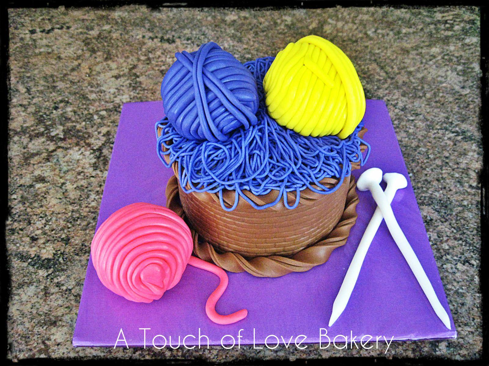 Yarn Ball Basket Cake. #atouchoflovebakery