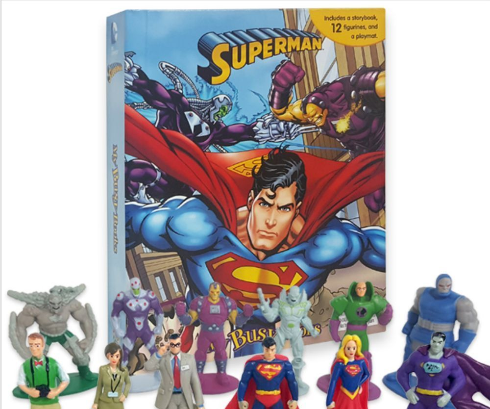 DC Superman My Busy Book + 12 Character Mini Figures Set Fun Marvel ...
