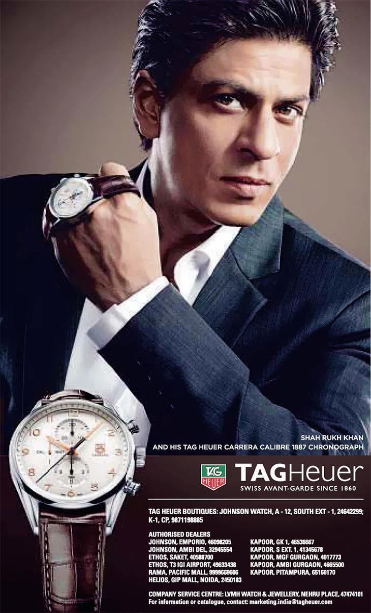 Image result for shahrukh khan tag heuer watch