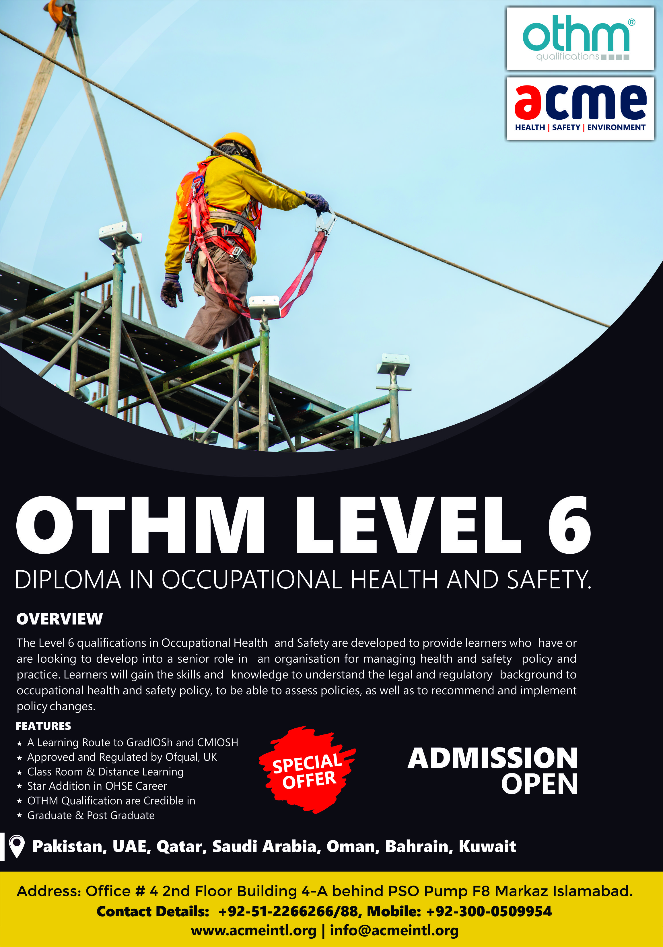 OTHM Level 6 in 2020 Occupational health and safety