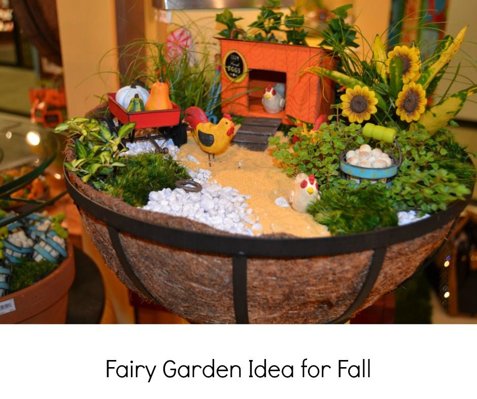 fall fairy garden idea also use hanging planters for new fairy gardens on the porch to use the hooks that are already there