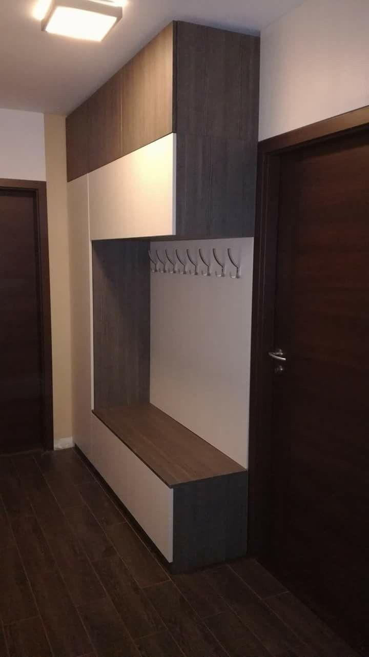 Banco y perchas para entrada (añadir zapatero) | ideas apartamento ...