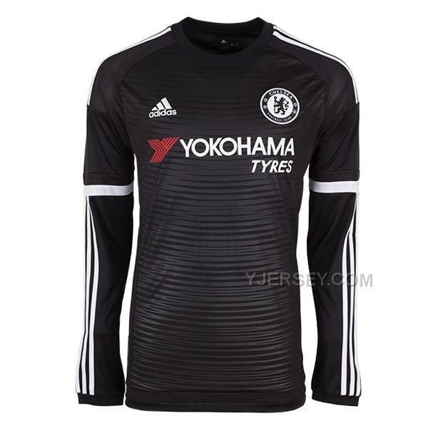 http   www.yjersey.com 1516-chelsea-away-black-long-sleeve-jersey ... 633bd8b14