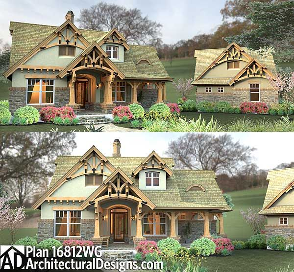 Craftsman Style Det Garage Garage Plans: Plan 16812WG: Rustic Look With Detached Garage