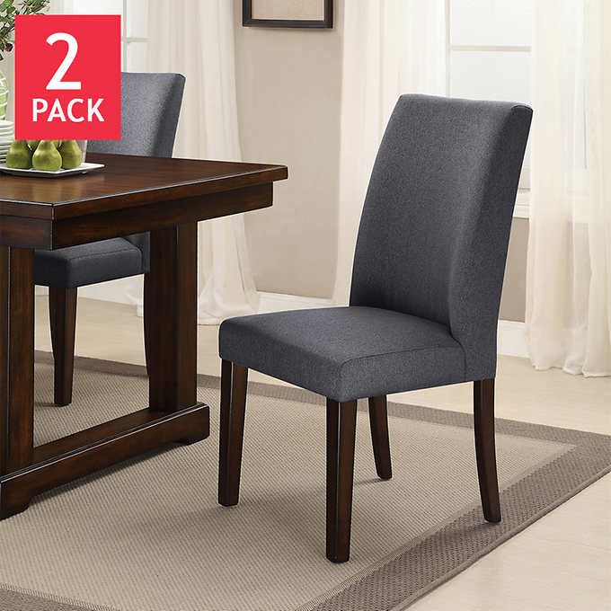 199 Costco Graystone Dining Chair 2 Pack Dining Chairs Chair Dining Room Chairs