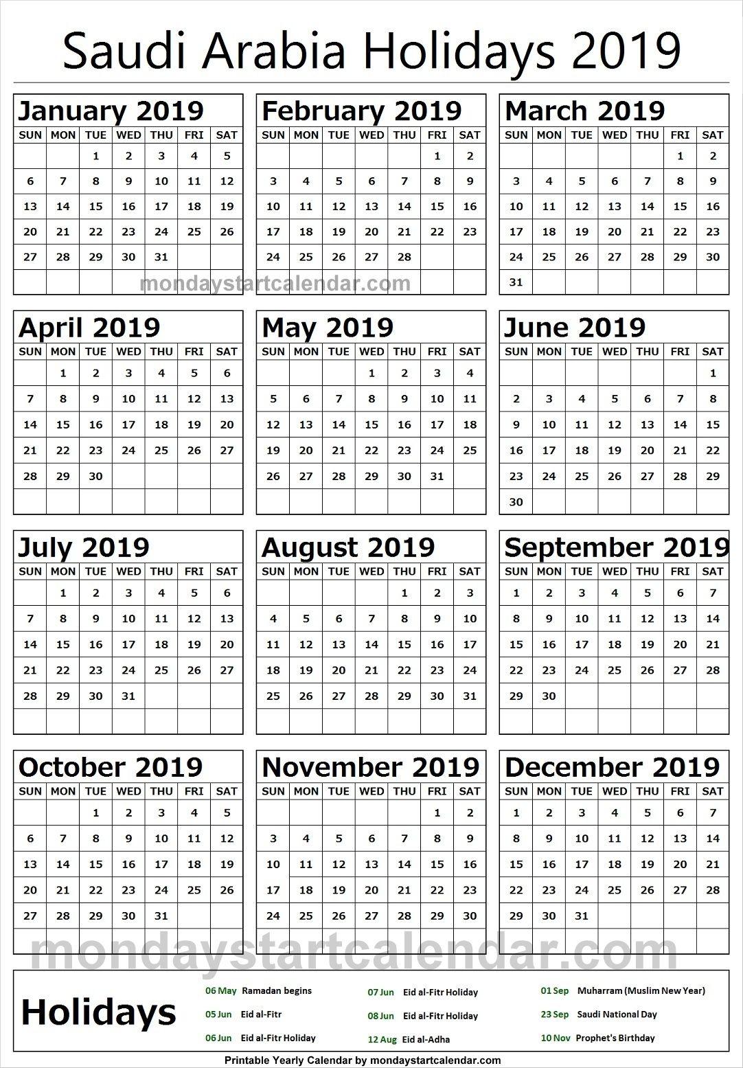 Calendar Of Ramadan In Saudi Arabia In 2020 South Africa Holidays Marketing Calendar Template Monthly Calendar Template
