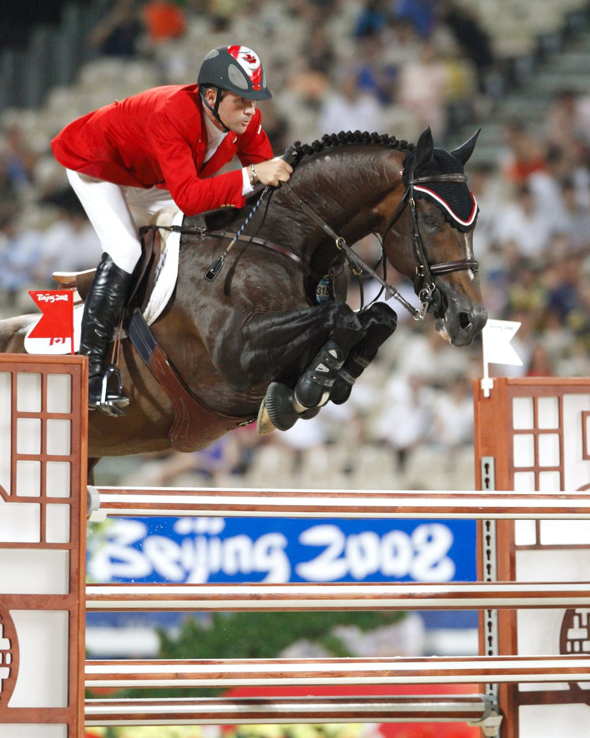 eric lamaze and hickstead. the most careful spring-loaded horse you've ever seen. olympic champion.