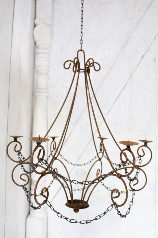 Iron Pillar Candle Chandelier Kerzen Aufhangen Kronleuchter
