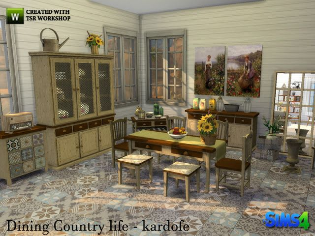 Sims 4 CC's - The Best: Dining Country life by Kardofe