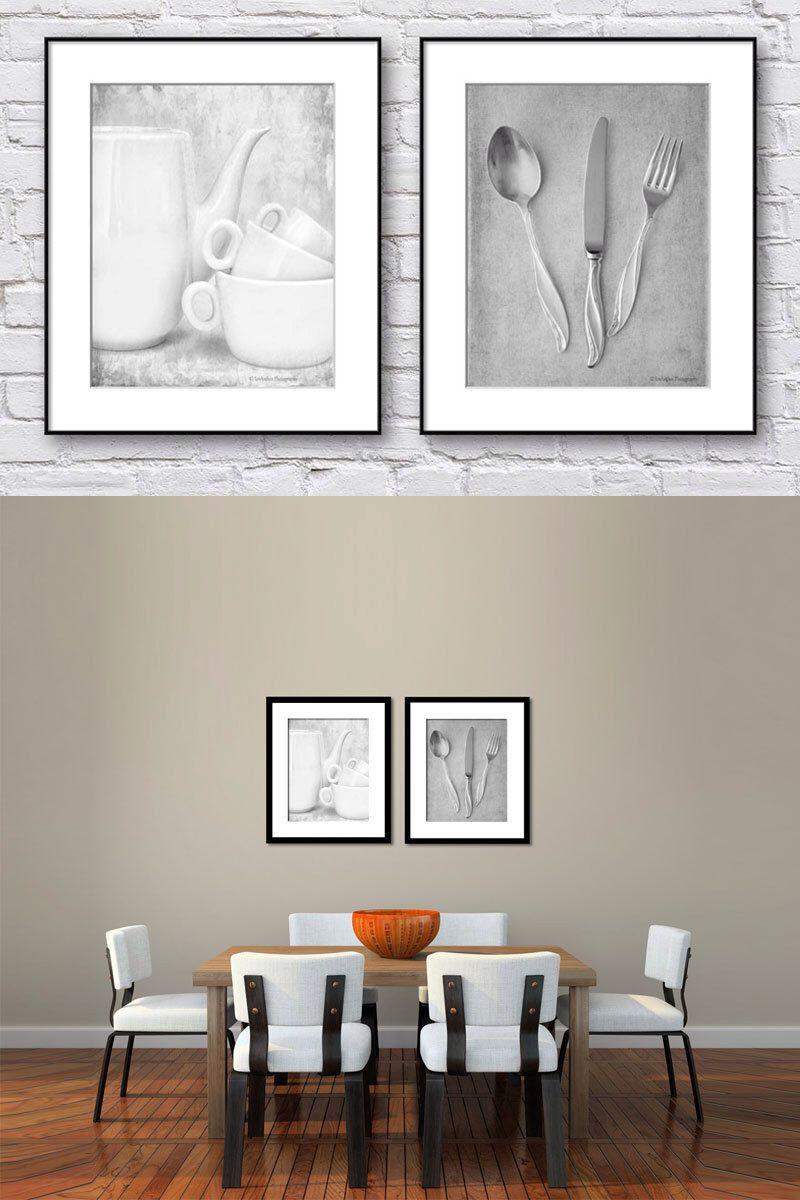 Neutral Artwork Set Black White Still Life Wall Art Set Set Of 2 Fine Art Photographs Minimali Dining Room Artwork Kitchen Wall Art Set Dining Room Wall Art