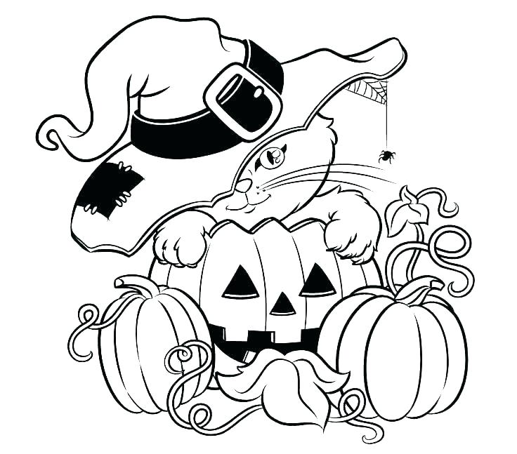 Halloween Cat Coloring Page Cat Coloring Pages Page Cats Witch Pictures Cute Free Cat Halloween Coloring Sheets Pumpkin Coloring Pages Halloween Coloring Book