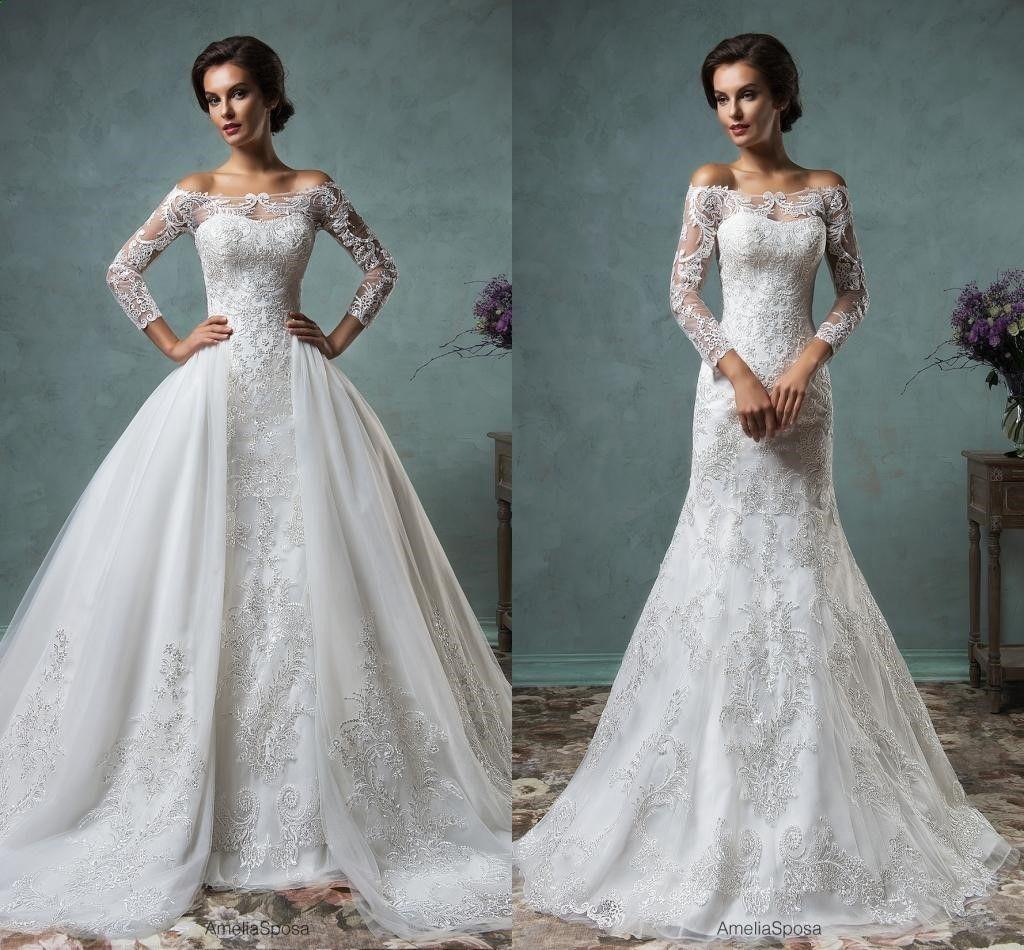 Pretty dresses amelia sposa sexy muslim wedding dresses with