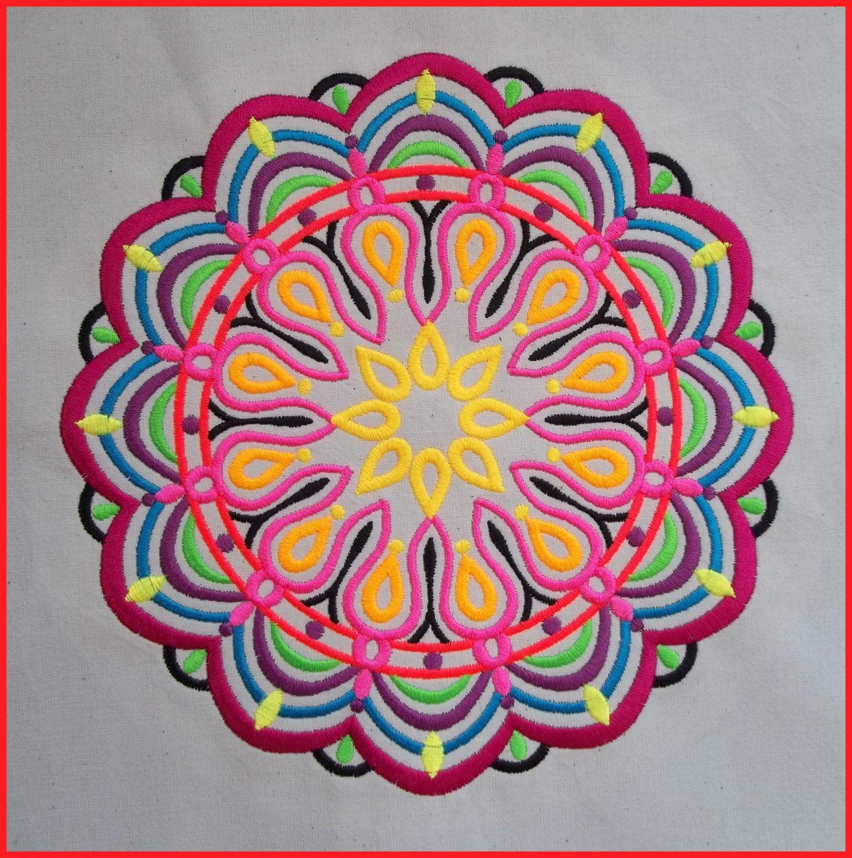 Machine embroidered Mandala, medallion, quilt block, cushion panel ... : cushion panels to quilt - Adamdwight.com