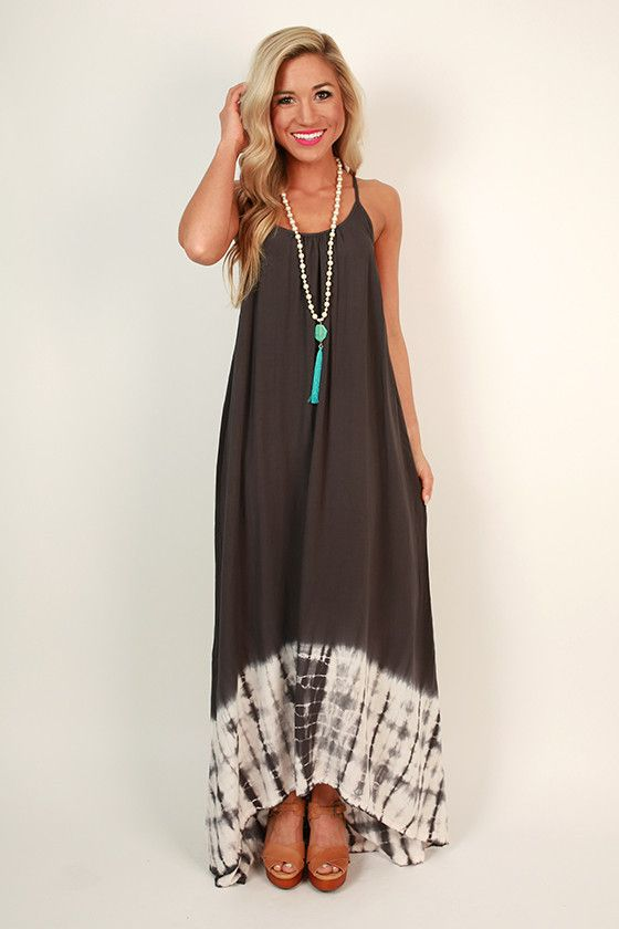Palm Beach Tie Dye Maxi Dress - Tie dye- Palms and Dyes