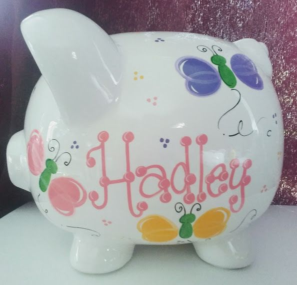 Pin By The Spoiled Sprout On Piggies Personalized Jewelry Box Personalized Piggy Bank Baby Gifts