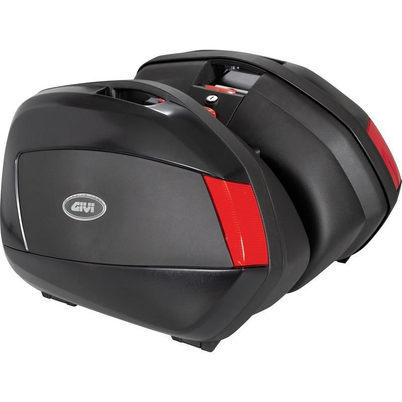 V35 Pair Of Side Cases With Red Reflectors Givi In 2020 Full Face Helmets Helmet Pairs