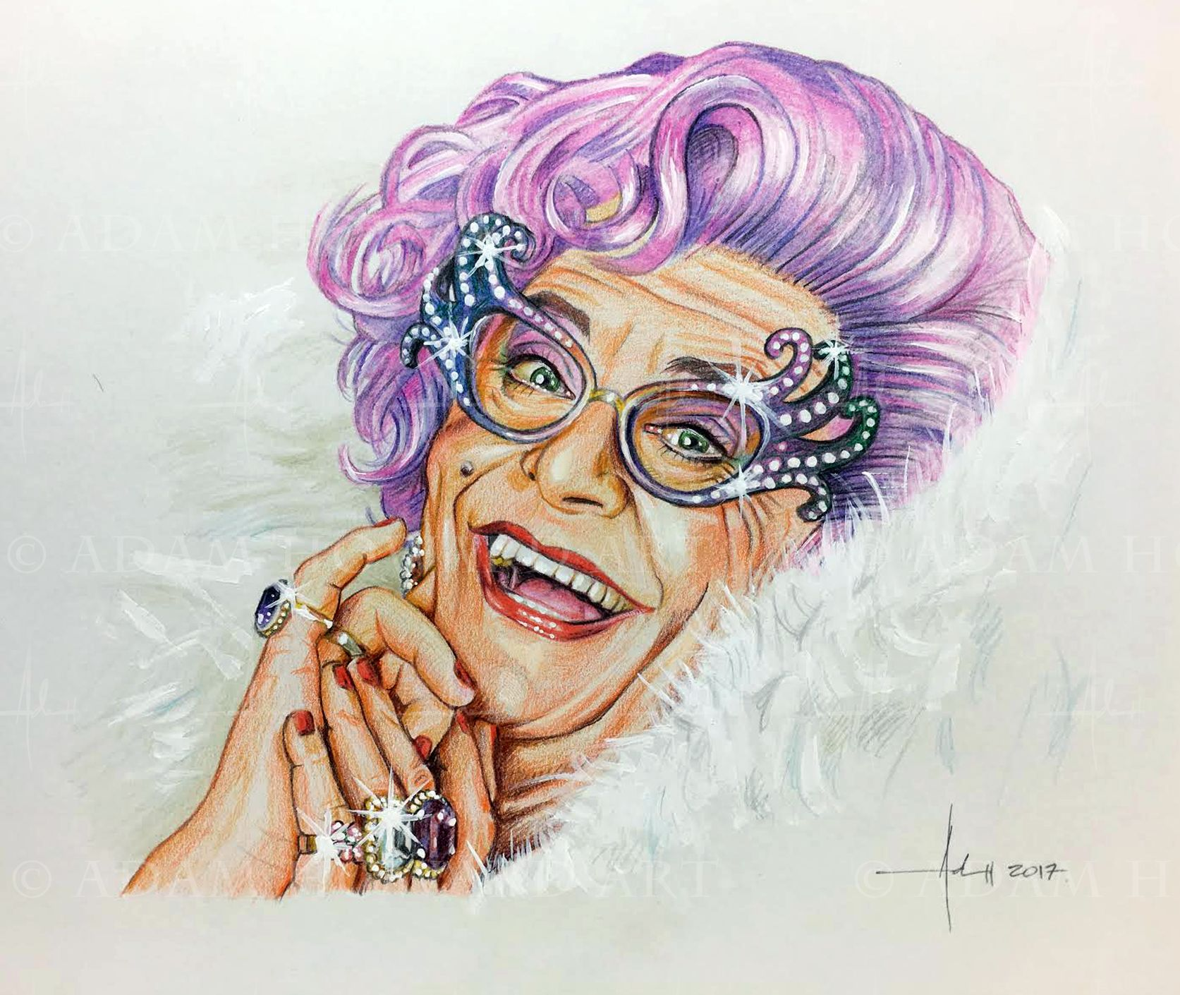 Art print POSTER Berry Humphries as Dame Edna Everage
