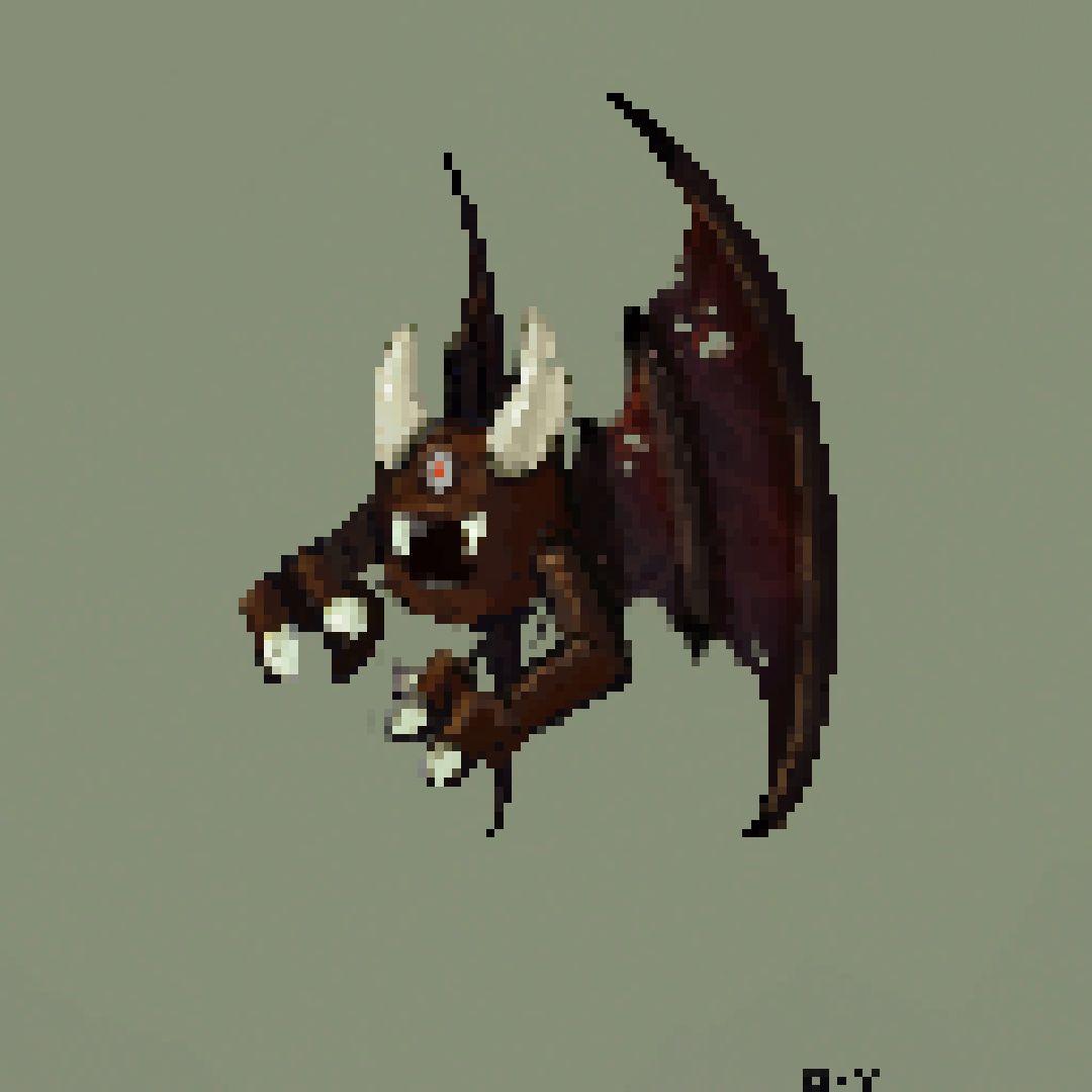 pixelart pixel art monster blocktober blocktober2018 vampire