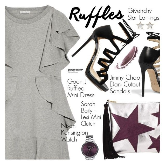 """Stay Fabulous!"" by pokadoll ❤ liked on Polyvore featuring Goen.J, Jimmy Choo, Nixon, Givenchy, NARS Cosmetics, Hedi Slimane, polyvoreeditorial, polyvorefashion and polyvoreset"