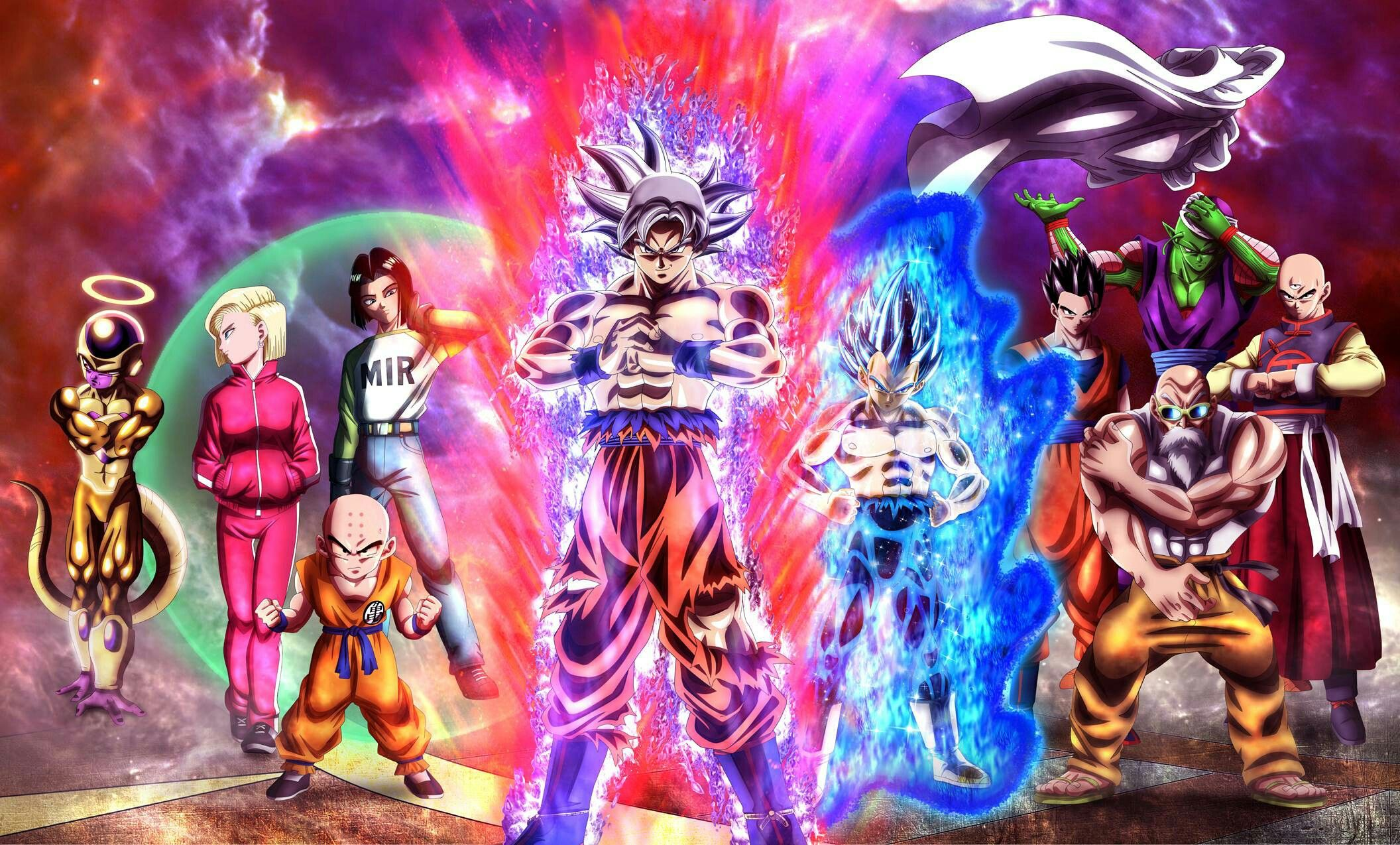 Team Universe 7 Full Power Manga Recreated Dragon Ball Dragon Ball Image Anime Dragon Ball