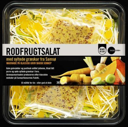 Rodfrugtsalat From Sidedish A Danish Company With Great Packaging On Their Takeout Salads And Sides Salad Packaging Fresh Food Packaging Food