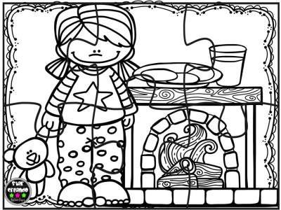 Puzzles navidad para colorear (6) navidad Pinterest Christmas - navidad para colorear