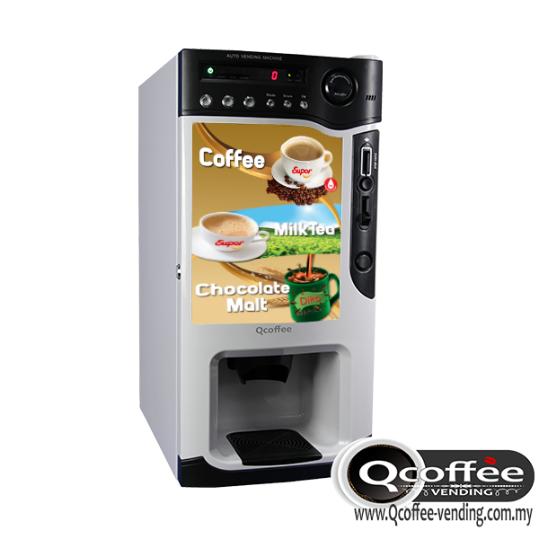 3 Flavors Instant Coffee Vending Machine With Coins Acceptor