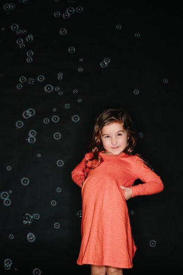 Chance Of Snow Bubbles Kids Studio Photography Ideas