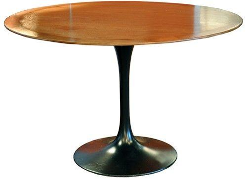 Vintage Black Saarinen Tulip Table 2185
