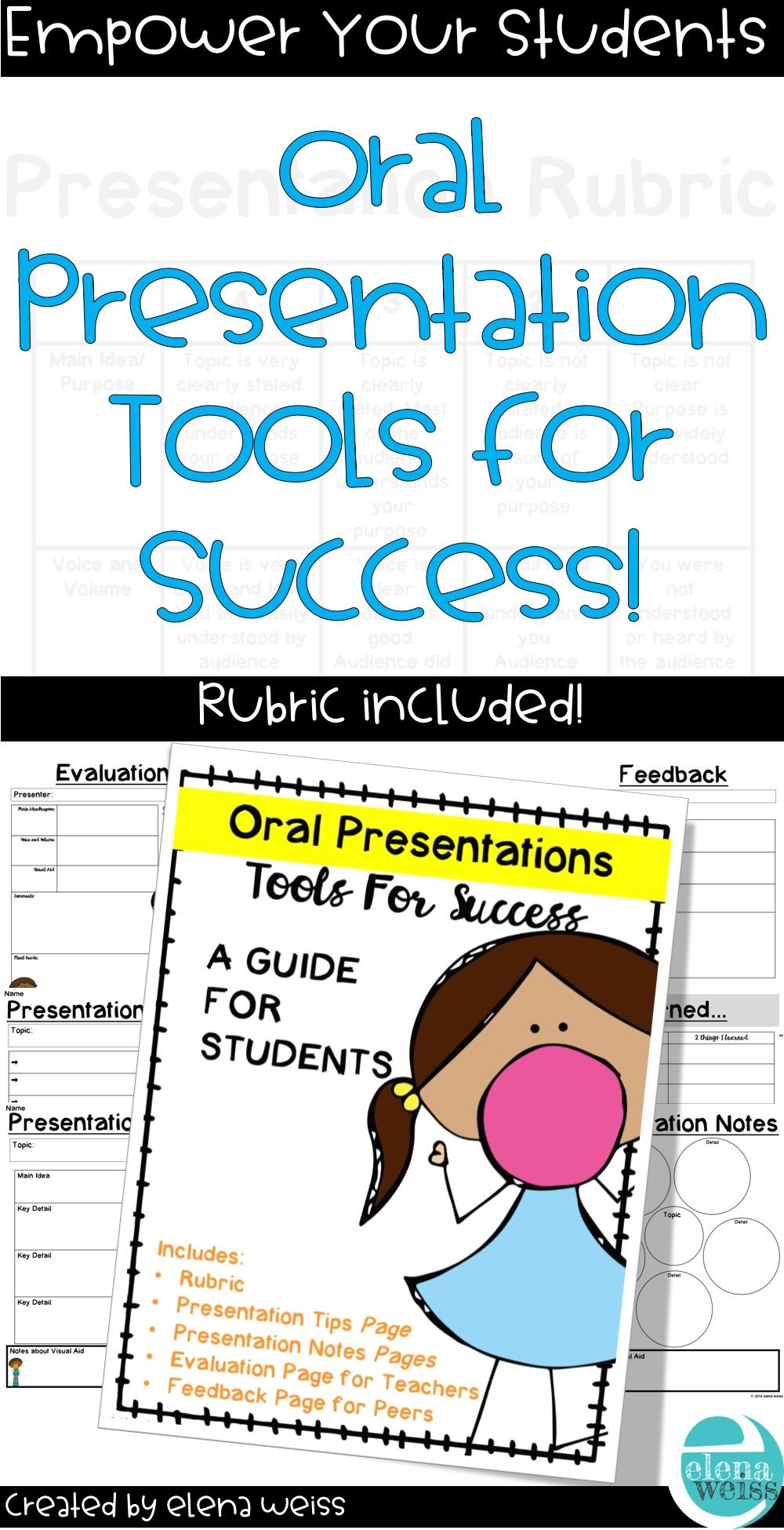 Oral Presentation Rubric And Other Tools For Success  Rubrics