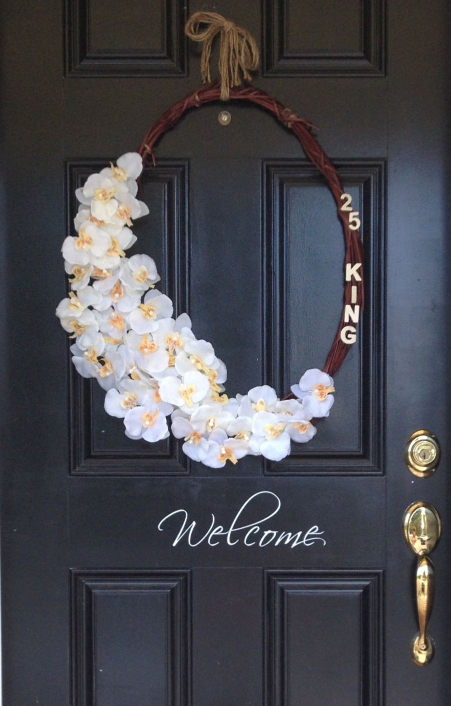 DIY Wreath with house number and street Diy wreath