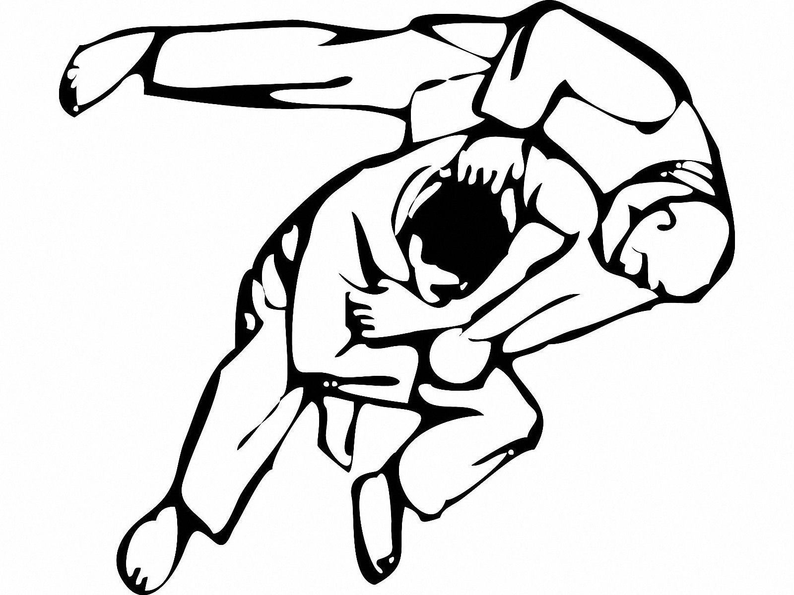 Frais Image Judoka à Colorier