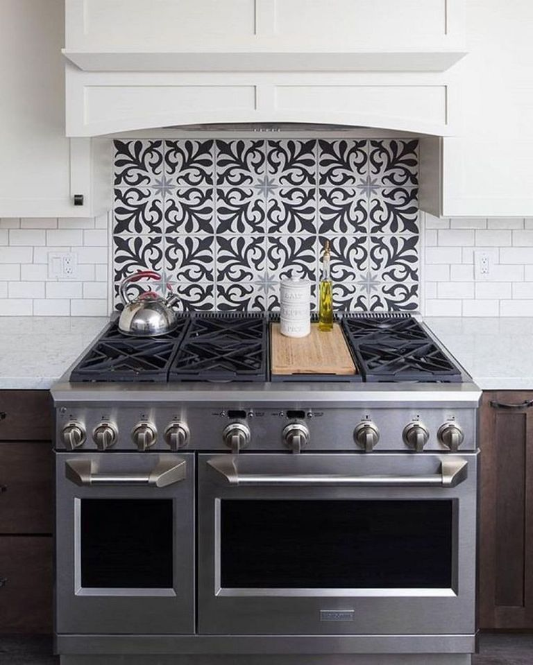 Tile Behind Stove Ideas Cool Kitchen Farmhouse Kitchen